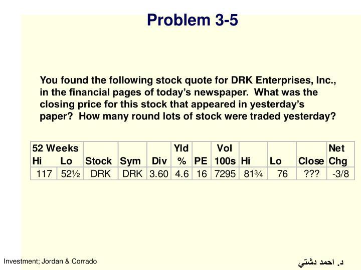 Problem 3-5
