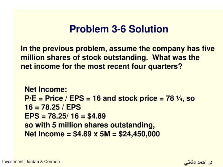 Problem 3-6 Solution