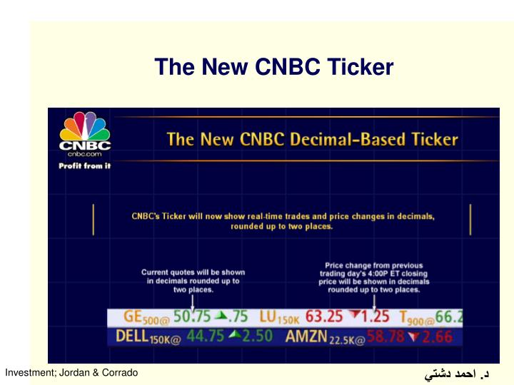 The New CNBC Ticker