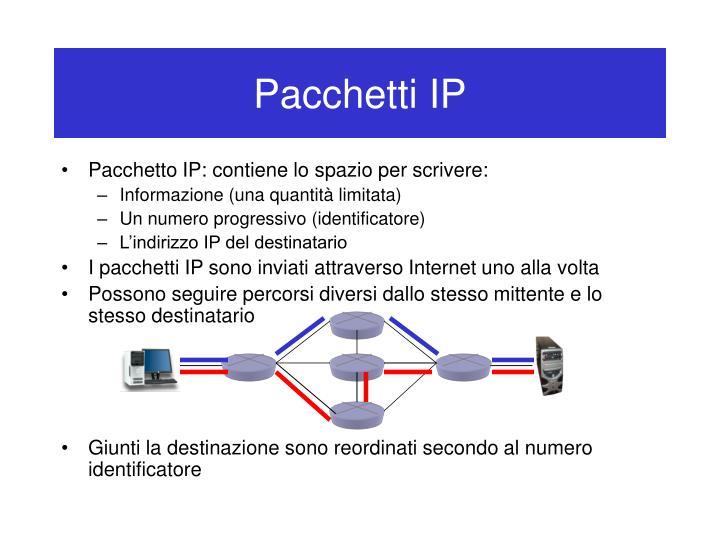 Pacchetti IP