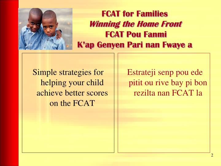 Simple strategies for helping your child achieve better scores on the FCAT