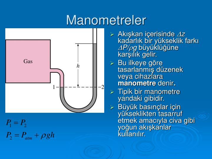 Manometreler