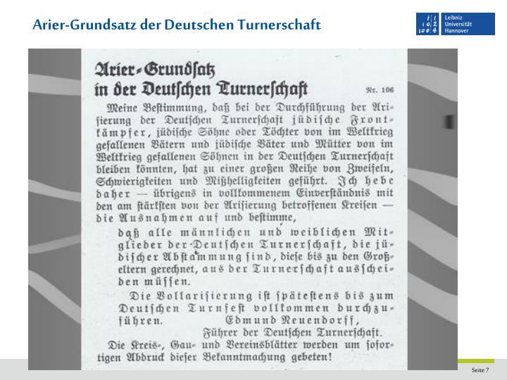 Arier-Grundsatz der Deutschen Turnerschaft