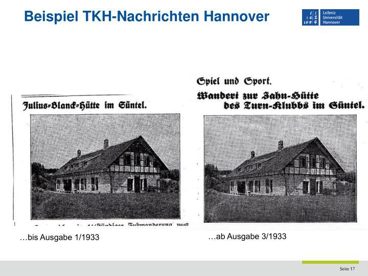 Beispiel TKH-Nachrichten Hannover