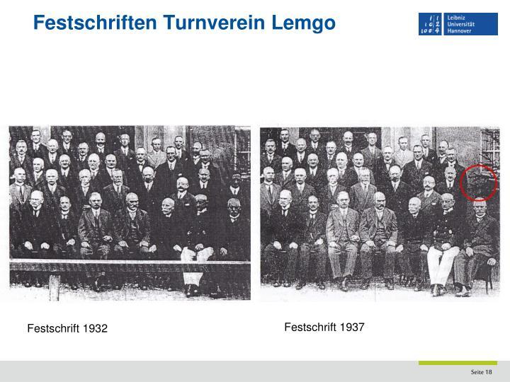 Festschriften Turnverein Lemgo
