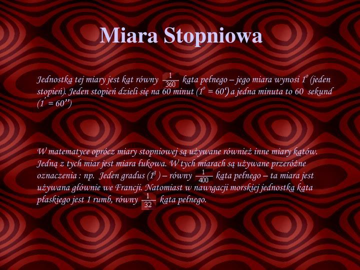 Miara Stopniowa