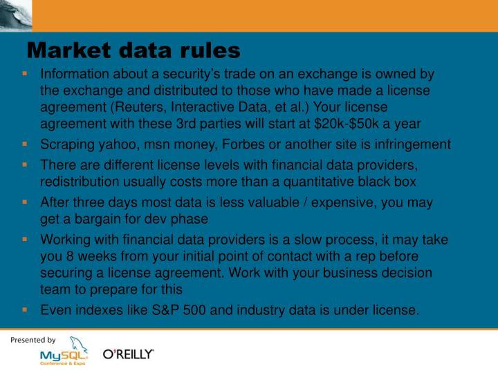 Market data rules