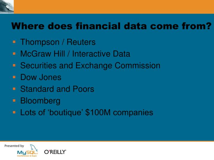 Where does financial data come from?