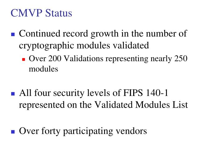 CMVP Status
