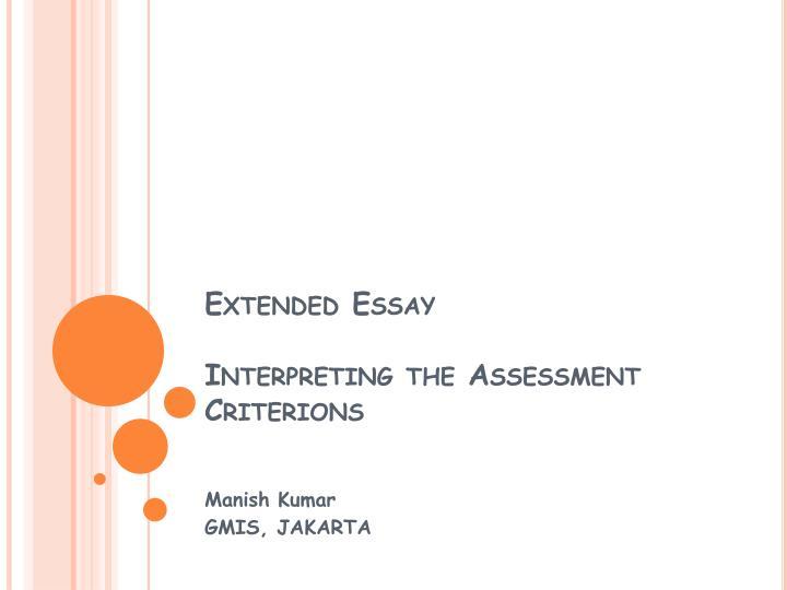 economics extended essay assessment criteria