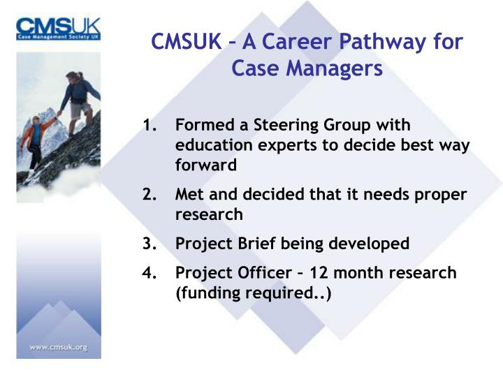 CMSUK – A Career Pathway for Case Managers