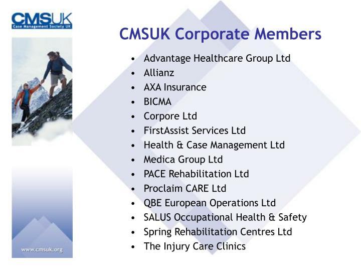 CMSUK Corporate Members