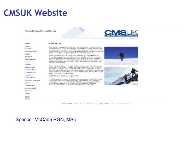 CMSUK Website