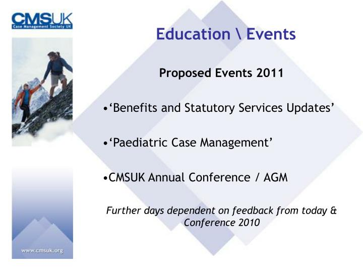 Education \ Events