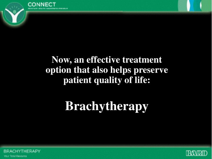 Now, an effective treatment