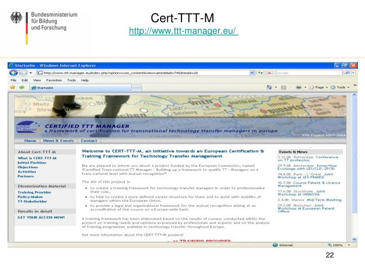 Cert-TTT-M