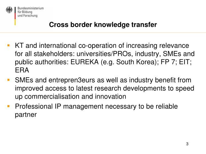 Cross border knowledge transfer