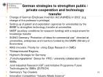 german strategies to strengthen public private cooperation and technology transfer