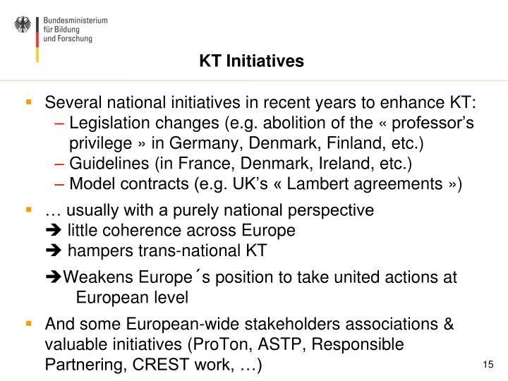 KT Initiatives