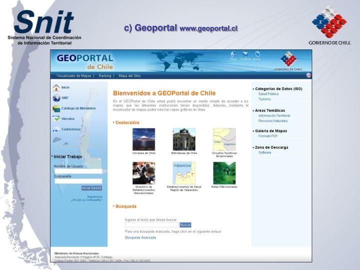 c) Geoportal