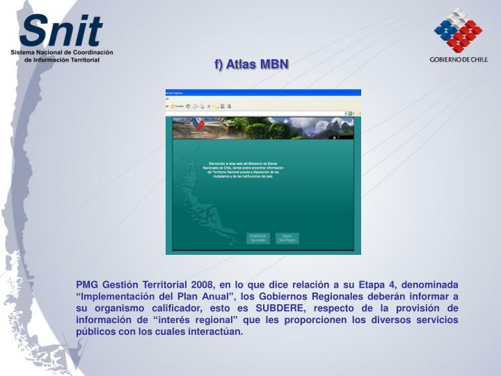 f) Atlas MBN
