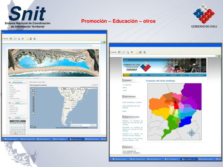 Promoción – Educación – otros