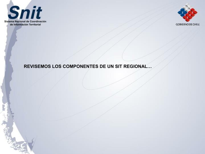 REVISEMOS LOS COMPONENTES DE UN SIT REGIONAL…