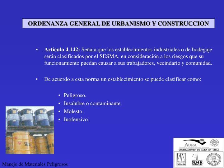 ORDENANZA GENERAL DE URBANISMO Y CONSTRUCCION