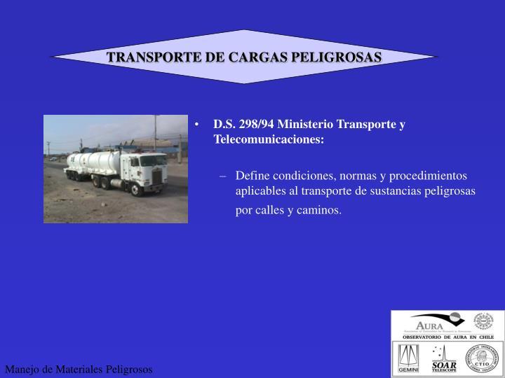 TRANSPORTE DE CARGAS PELIGROSAS