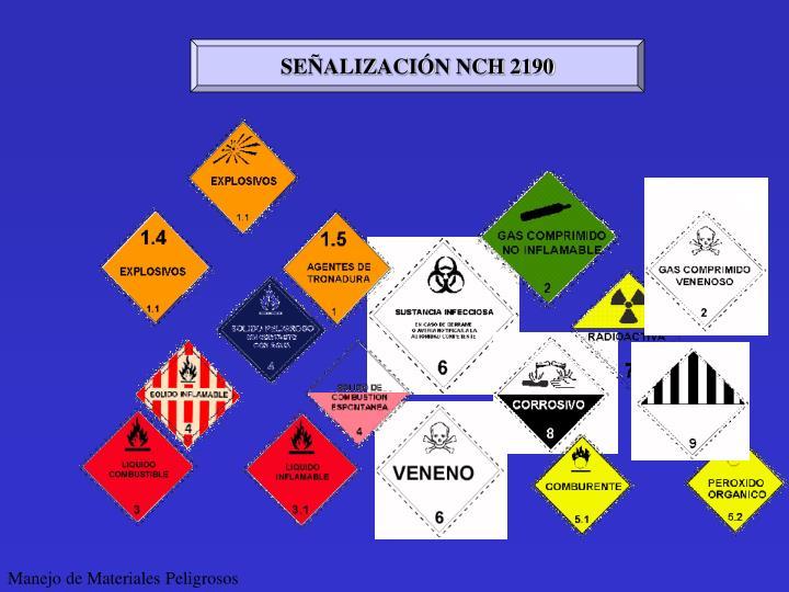 SEÑALIZACIÓN NCH 2190