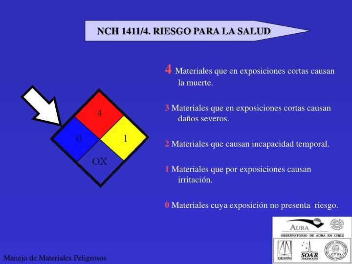 NCH 1411/4. RIESGO PARA LA SALUD