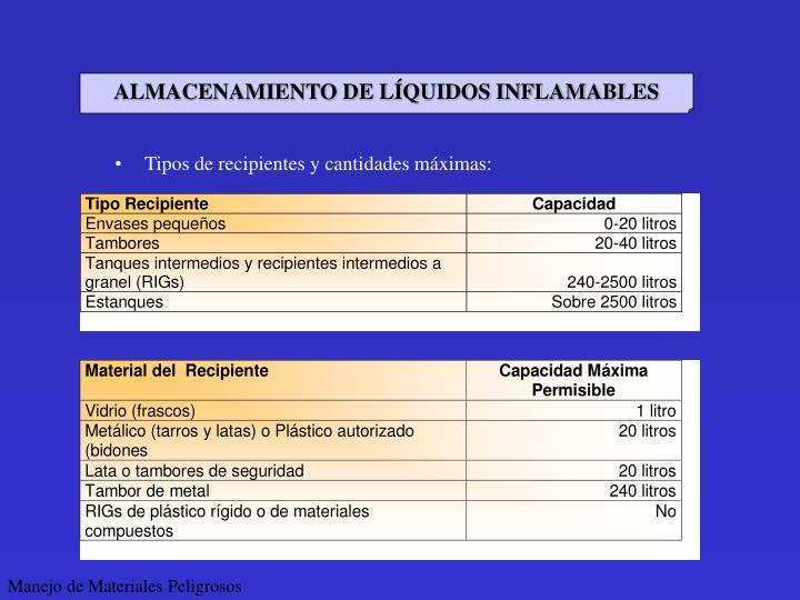 ALMACENAMIENTO DE LÍQUIDOS INFLAMABLES