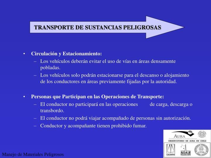 TRANSPORTE DE SUSTANCIAS PELIGROSAS