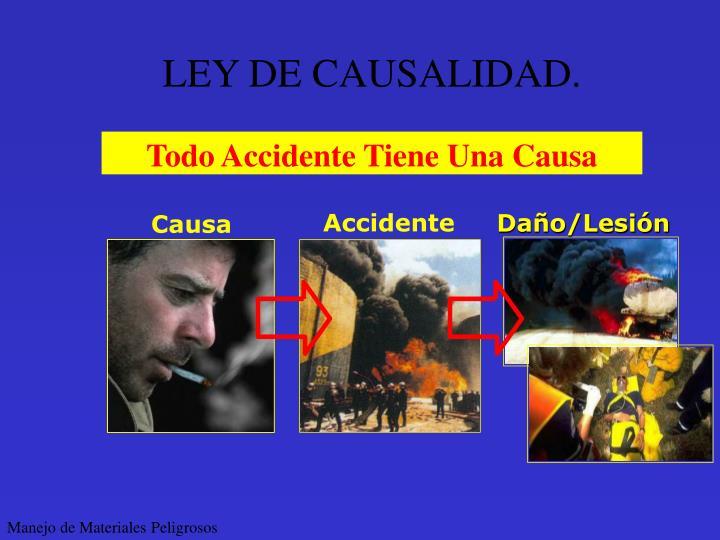 LEY DE CAUSALIDAD.