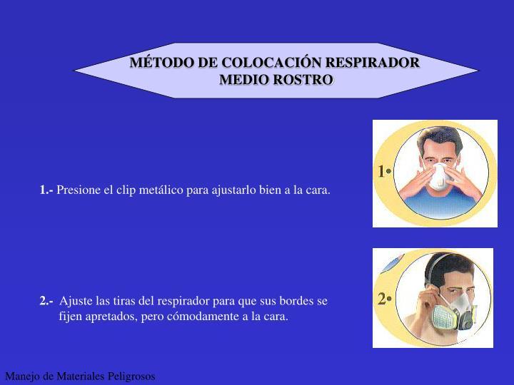MÉTODO DE COLOCACIÓN RESPIRADOR