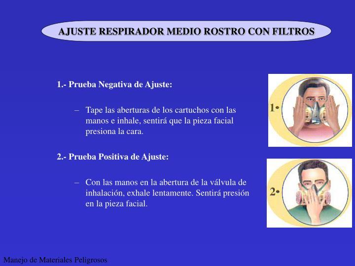 AJUSTE RESPIRADOR MEDIO ROSTRO CON FILTROS