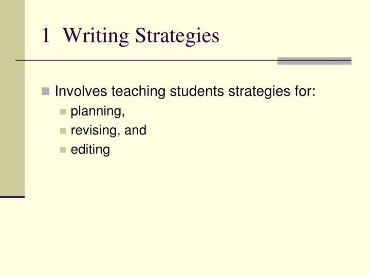 1  Writing Strategies