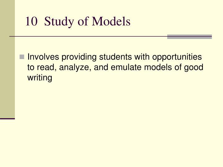 10  Study of Models