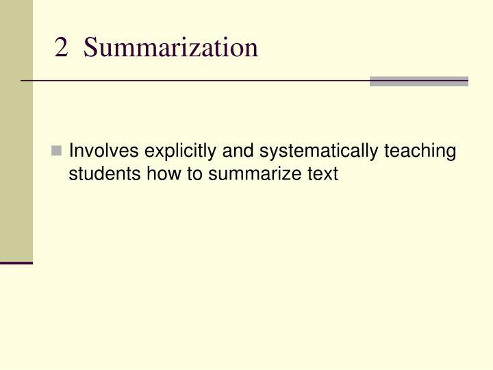 2  Summarization