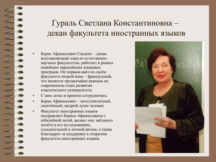 Гураль Светлана Константиновна –