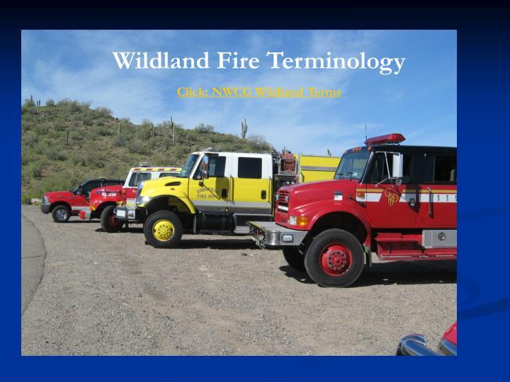 Wildland Fire Terminology