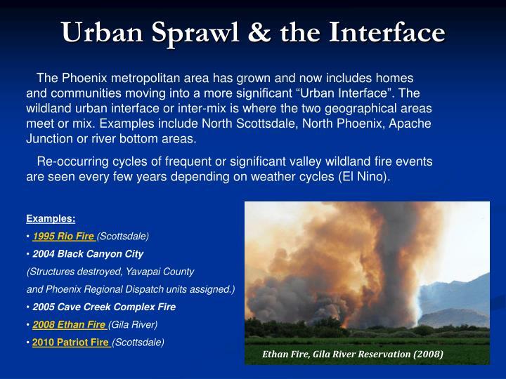 Urban Sprawl & the Interface