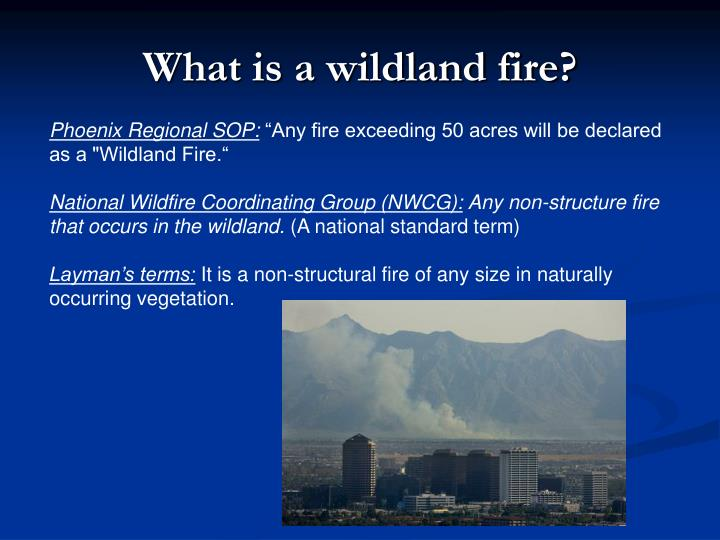 What is a wildland fire?