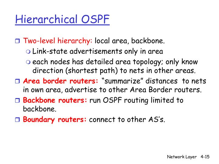 Hierarchical OSPF
