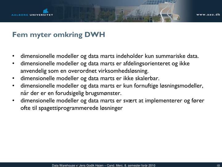 Fem myter omkring DWH