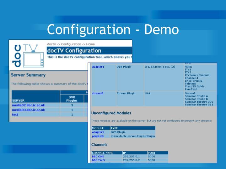 Configuration - Demo