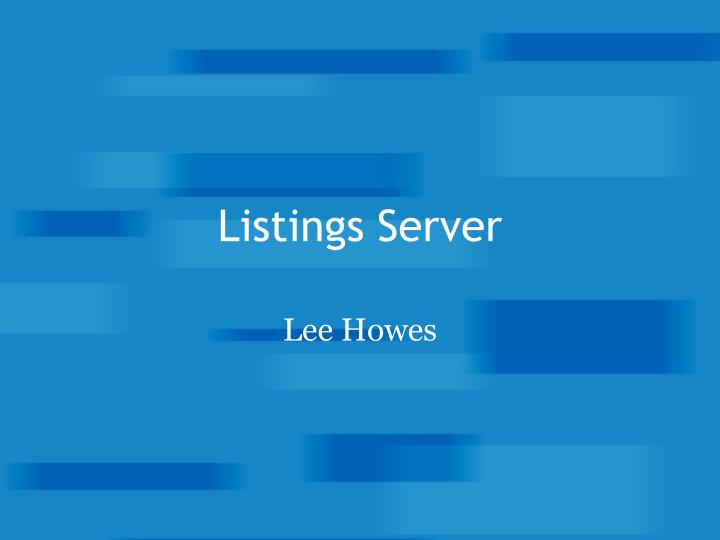 Listings Server
