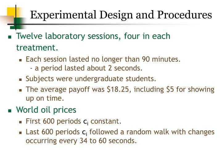 Experimental Design and Procedures