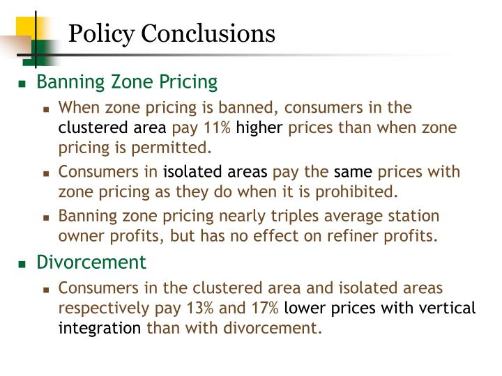 Policy Conclusions