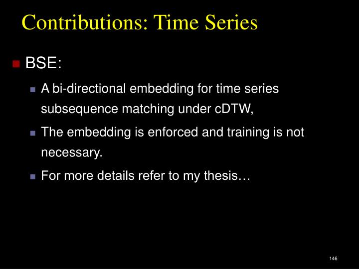 Contributions: Time Series